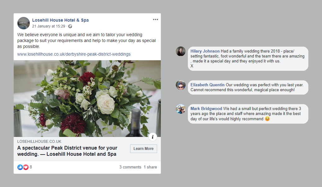 Losehill House Hotel Engagement Example